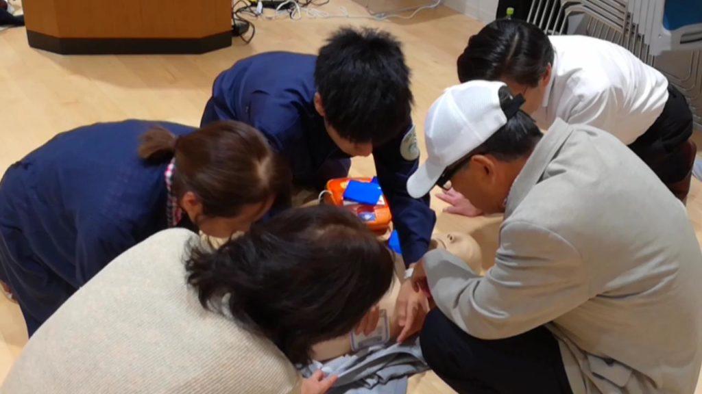 令和元年度 おおさか元気広場にて 救急救命講習会