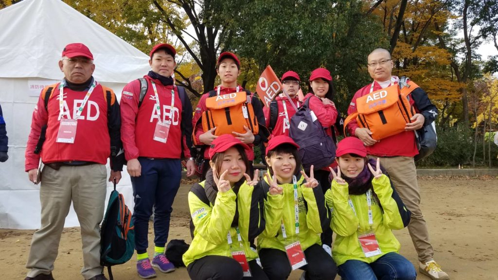 大阪マラソンにて 大阪医専救急救命学科 看護学科 OLSのスタッフが万全の体制でサポート