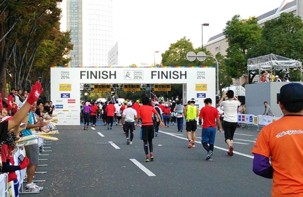 大阪マラソン FINISHエリア