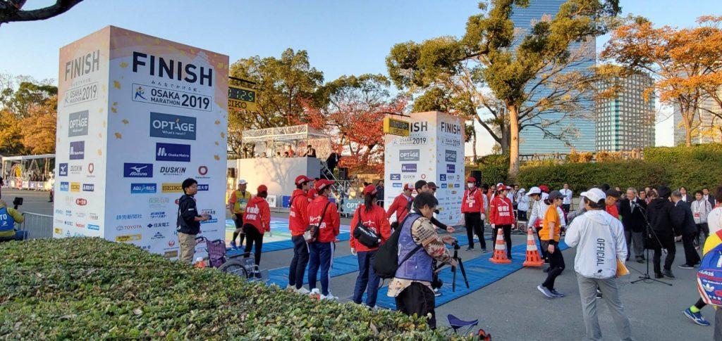 大阪マラソン2019 FINISHエリアの様子