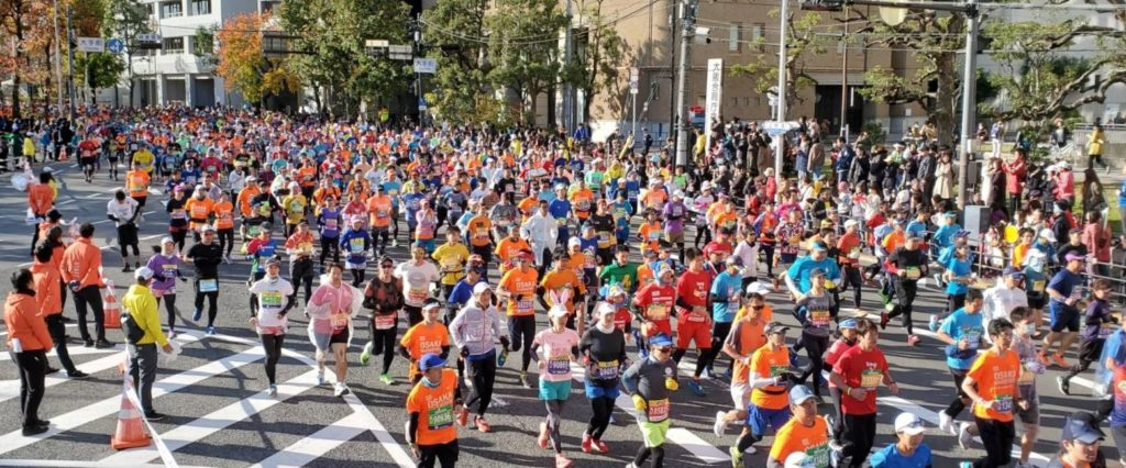 大阪マラソン2019 ランナー 大手前交差点