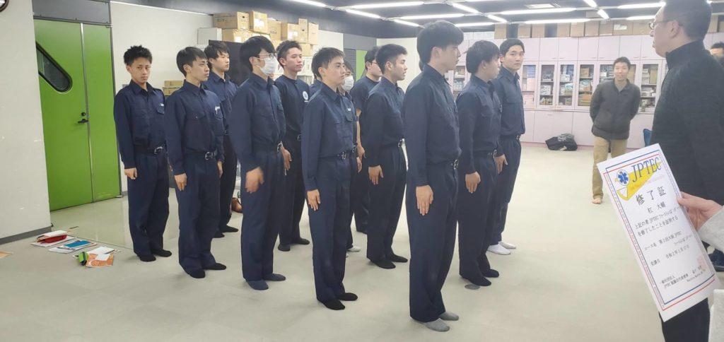 大阪医専救急救命学科 JPTEC ファーストレスポンダーコース 受講